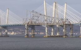 New York bridge plunges into Hudson River after controlled explosion
